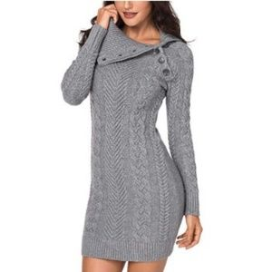 Women's Casual Knit Stretchable Slim Sweater Dress